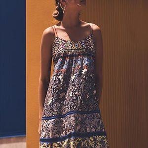 Anthro {One September} Cosima Midi Dress Size XS